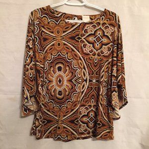 Chico's Abstract Print Top Sz 0 Small